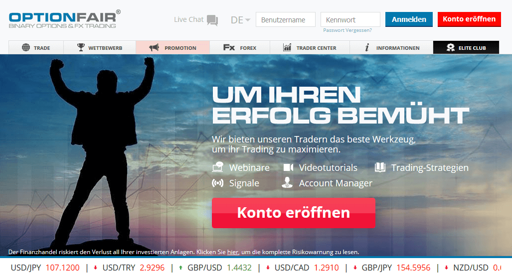 OptionFair Webseite neu