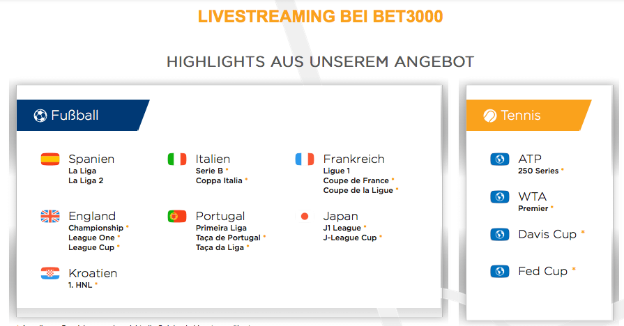 Bet3000 Streaming